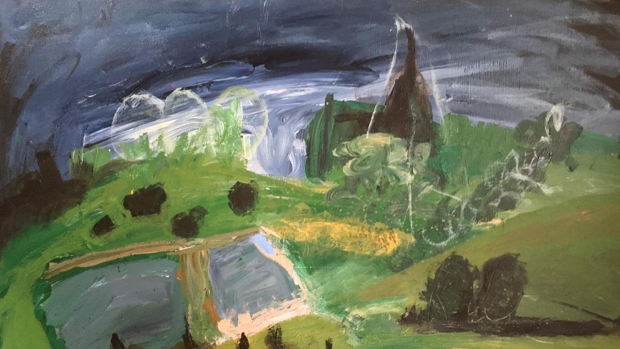 Justine Wake's Dam 2018 from a previous Toowoomba Biennial Emerging Artist Award and Exhibition.