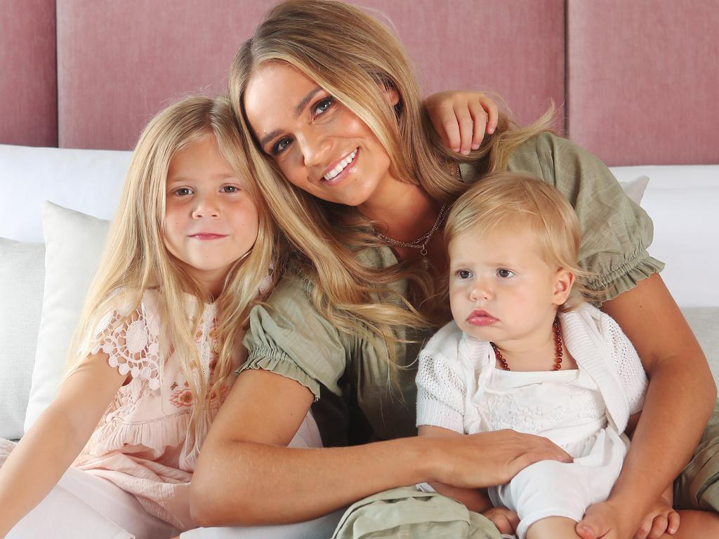 Stephanie McIntosh with Milla and Goldie. Picture Rebecca Michael.