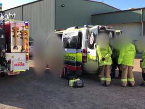 Meat worker injured in accident