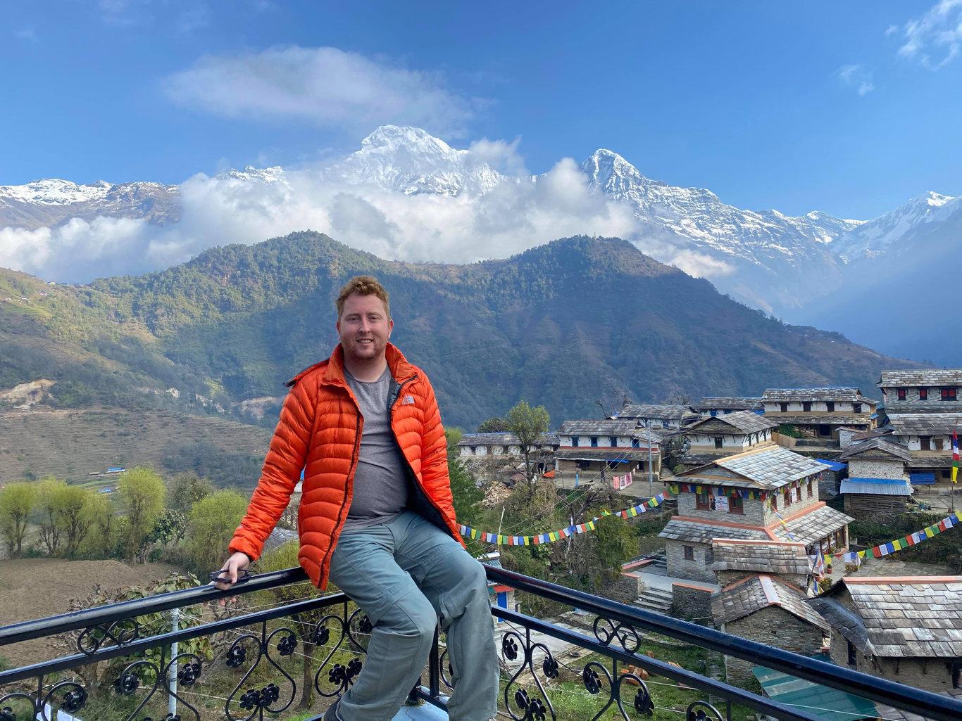 The Chronicle digital producer Tobi Loftus in the Annapurna region in Nepal.