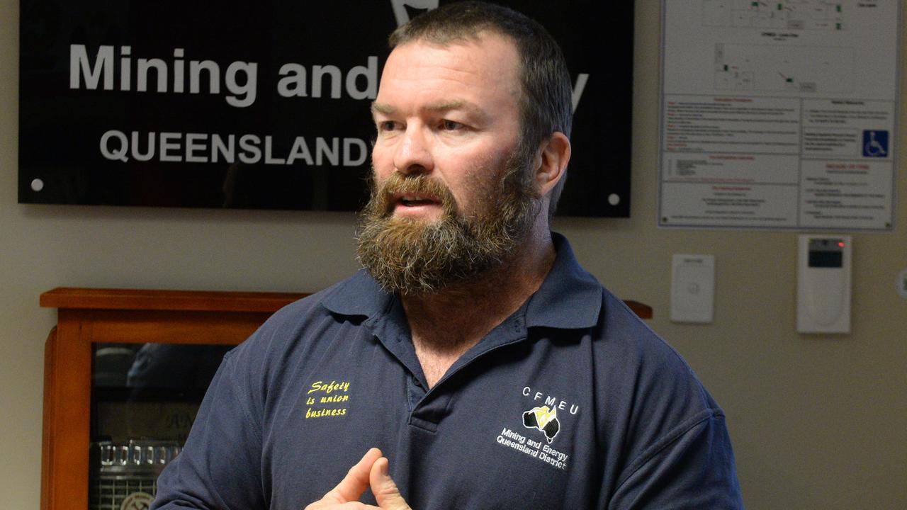 CFMEU Mining and Energy Queensland district president Stephen Smyth