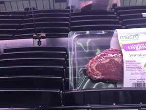 Meat stripped from supermarket shelves
