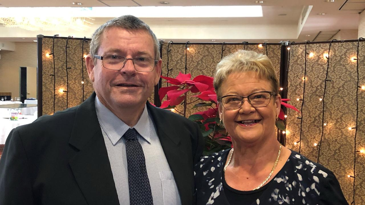 John May with his wife Mackay Regional Council councillor Karen May. John was stabbed in a terrifying assault while driving his limousine on March 6 at Sarina.