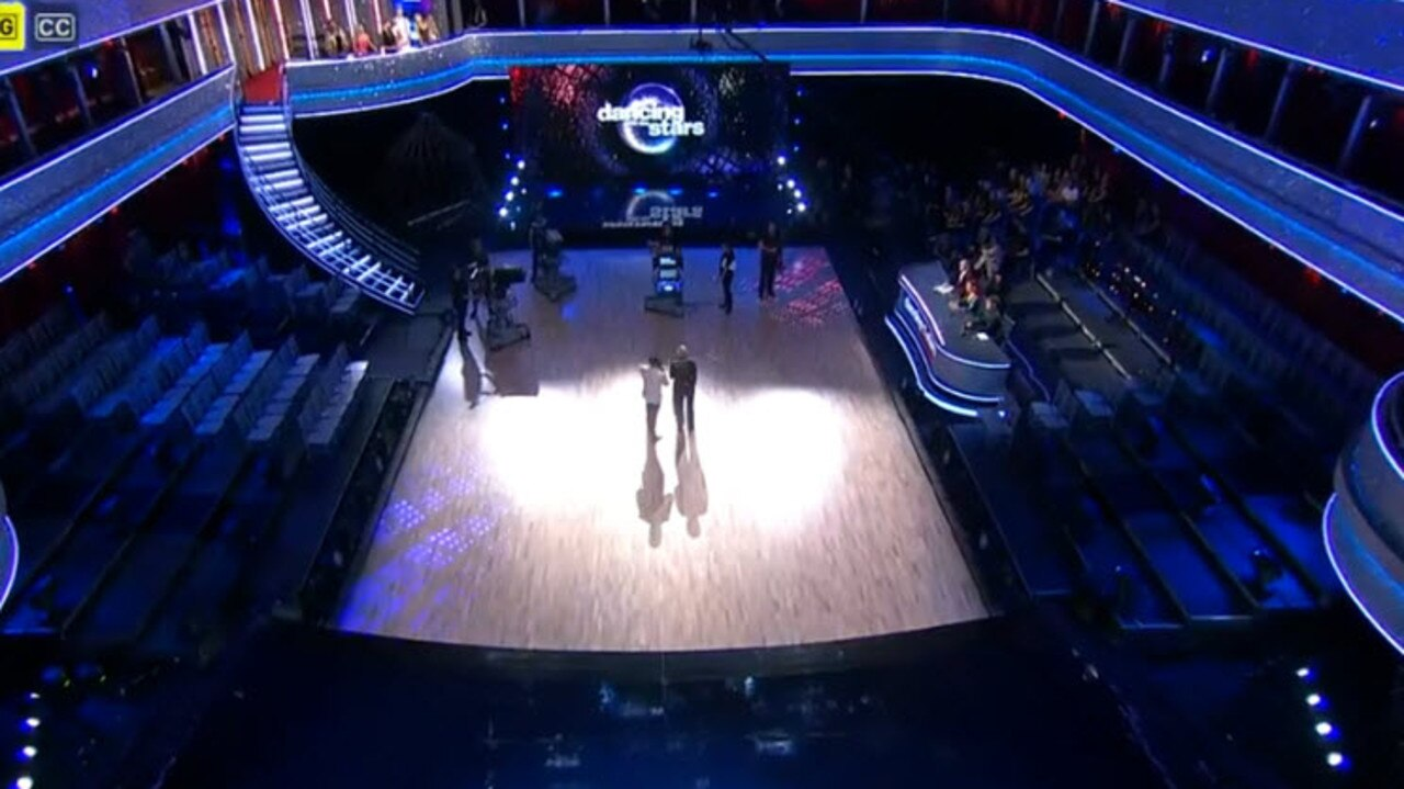 The empty Dancing with the Stars studio.