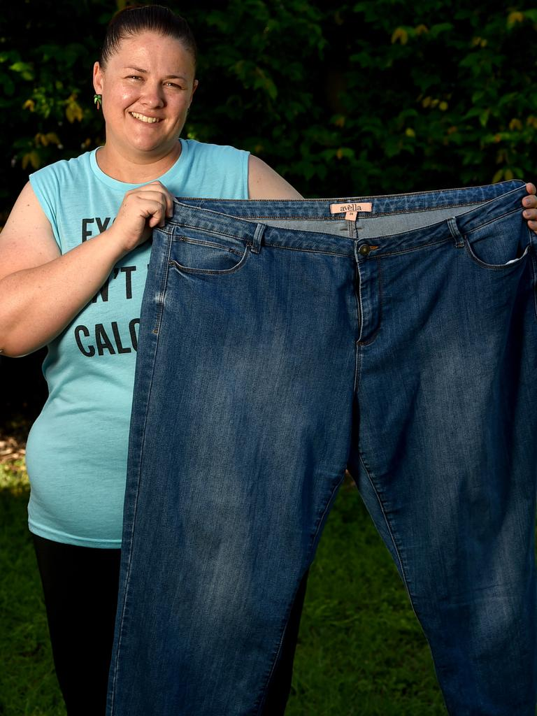 Townsville mum Sarah Hiatt lost 20kg in 6 months and hopes to lost another 20kg in the next 6 months. Picture: Evan Morgan