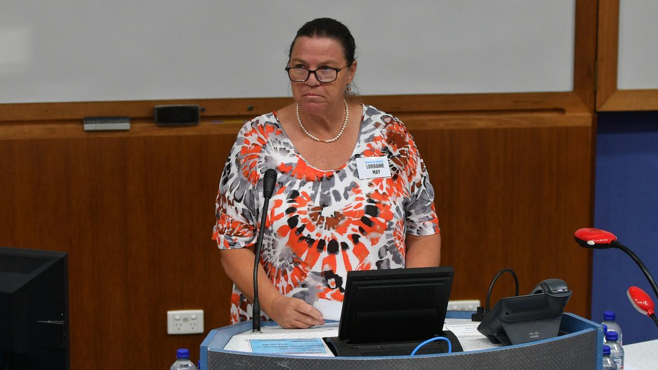 Lorraine May at the Meet the Candidates event at CQUni March 12, 2020