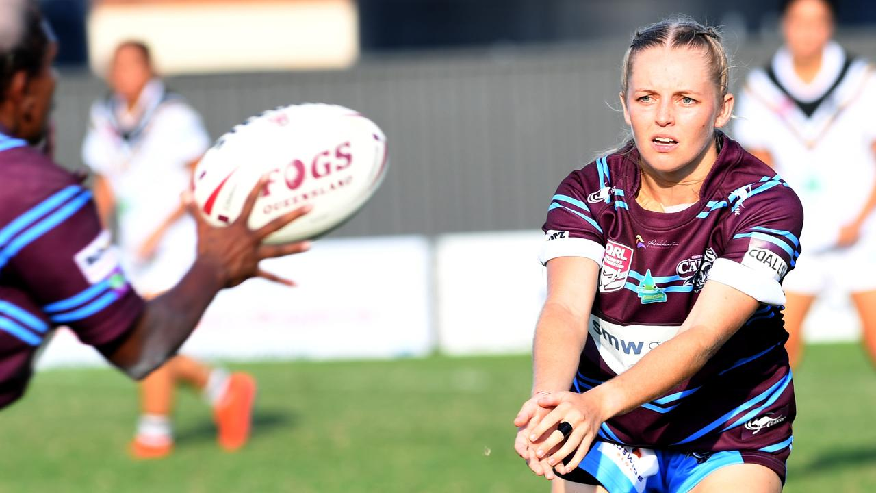 Mackenzie Reid is growing in confidence with every game for the CQ Capras. Picture: Jann Houley