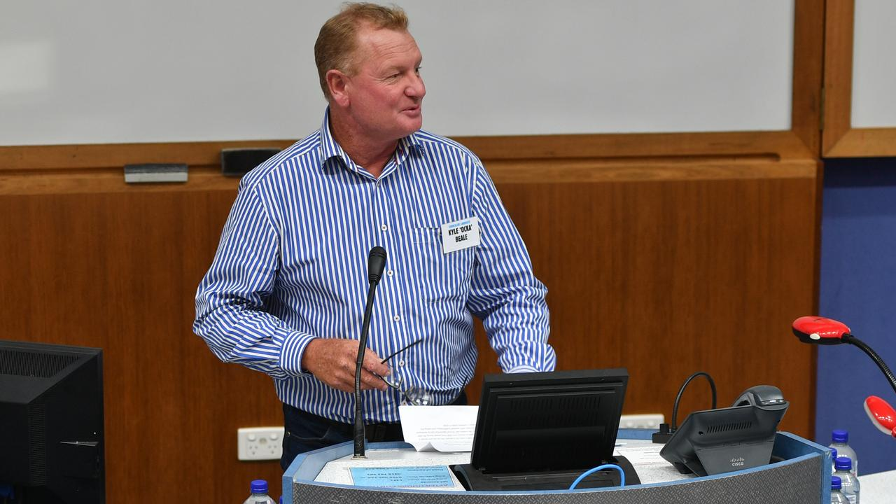 Kyle 'Ocka' Beale at the Meet the Candidates event at CQUni March 12, 2020