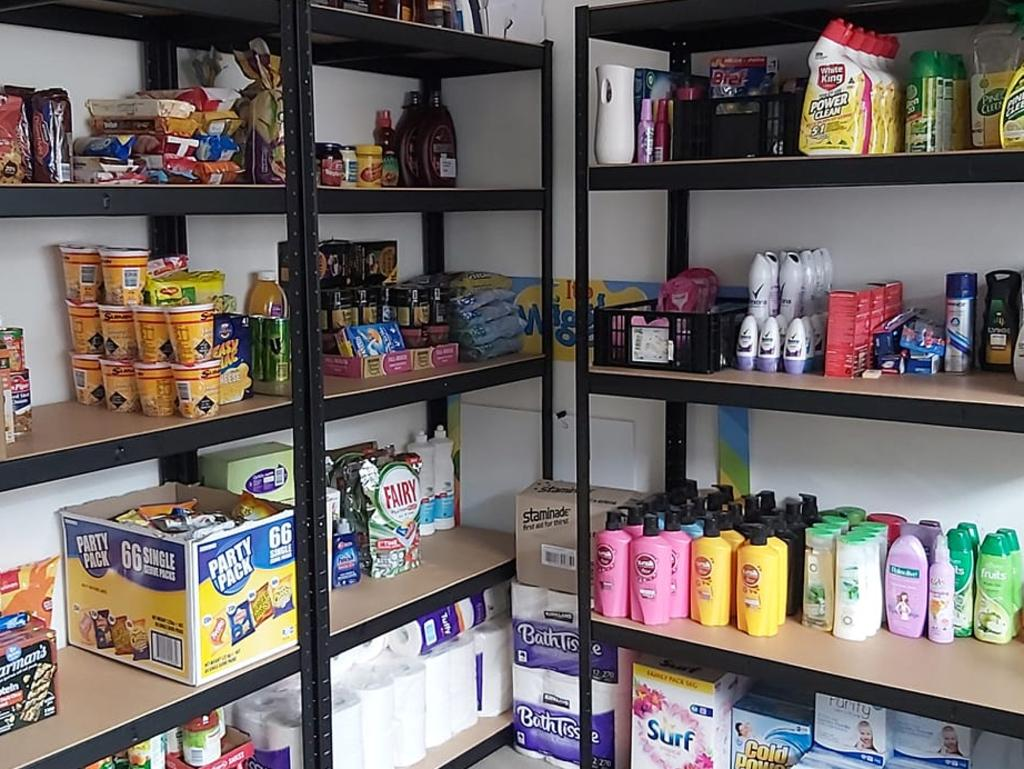 The mum said she stored her extras in her walk-in pantry and also on shelves in the garage. Picture: Facebook/Budgeting, Food, Stockpiling, Savings Ideas, Life Help Australia