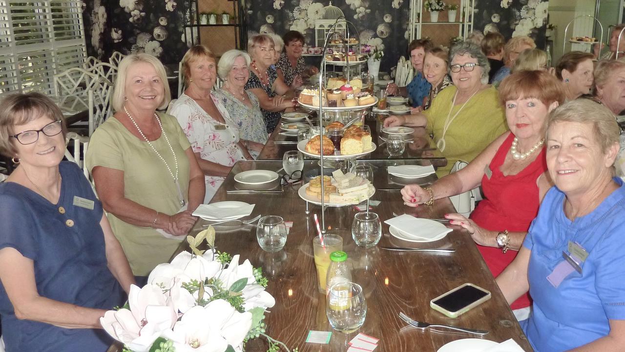 Caloundra Evening VIEW Club members enjoy high tea at Parklands Tavern.