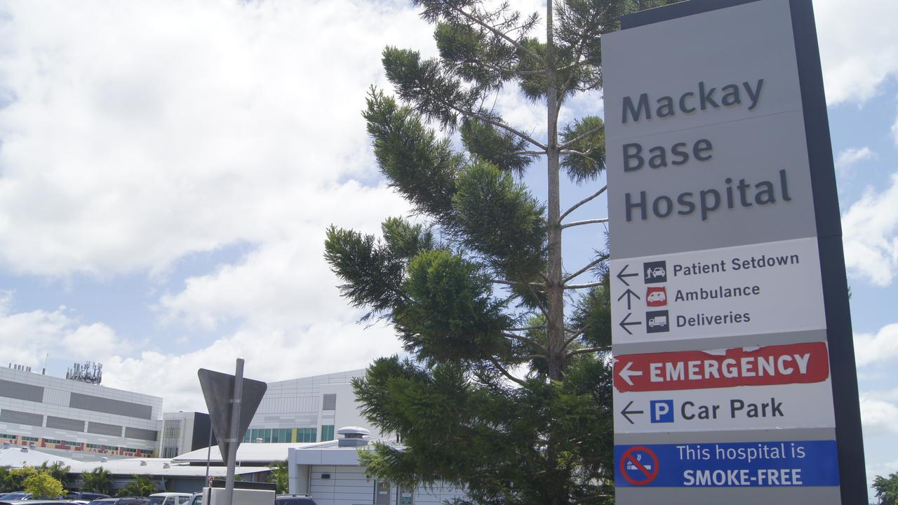 Mackay Base Hospital has first case of COVID-19. Picture: Heidi Petith