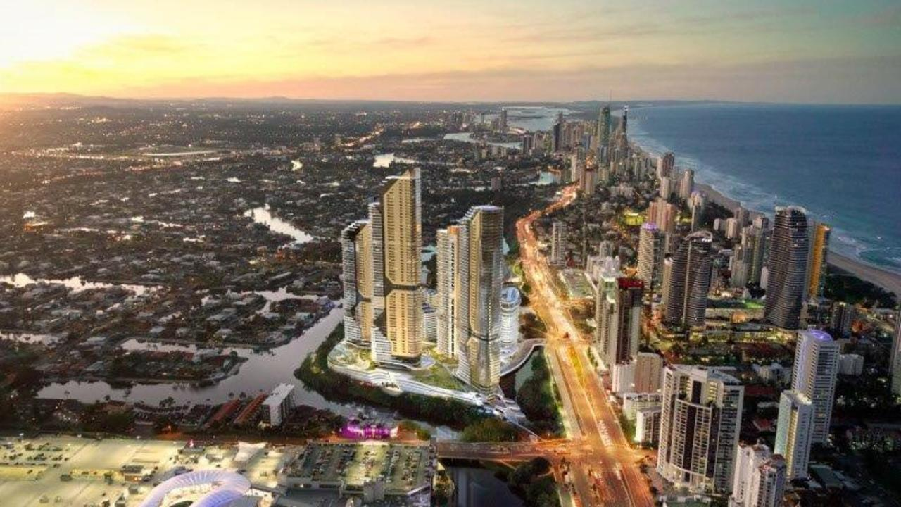An artist impression of the The Star Gold Coast Masterplan Development.