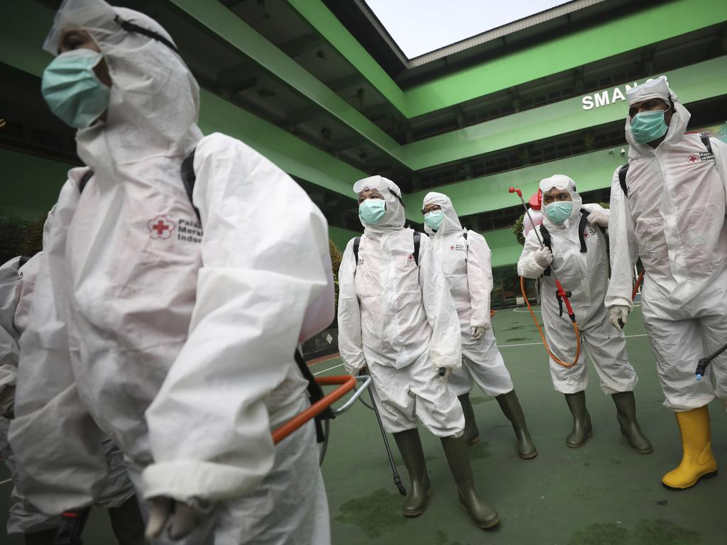 The virus has swept across the world, leaving several countries in lockdown. Picture: Dita Alangkara/AP Photo