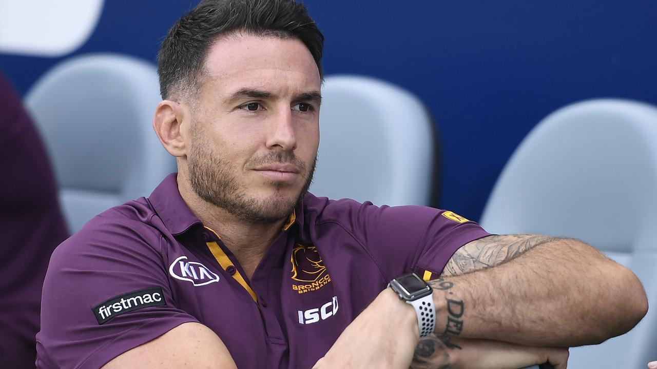 TOWNSVILLE, AUSTRALIA – MARCH 13: Darius Boyd of the Broncos looks on before the start of the round 1 NRL match between the North Queensland Cowboys and the Brisbane Broncos at Queensland Country Bank Stadium on March 13, 2020 in Townsville, Australia. (Photo by Ian Hitchcock/Getty Images)