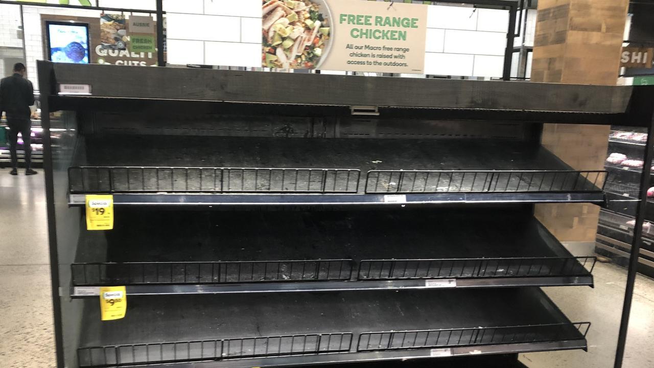 Free-range chicken has also gone. Picture: Alex Turner-Cohen/news.com.au