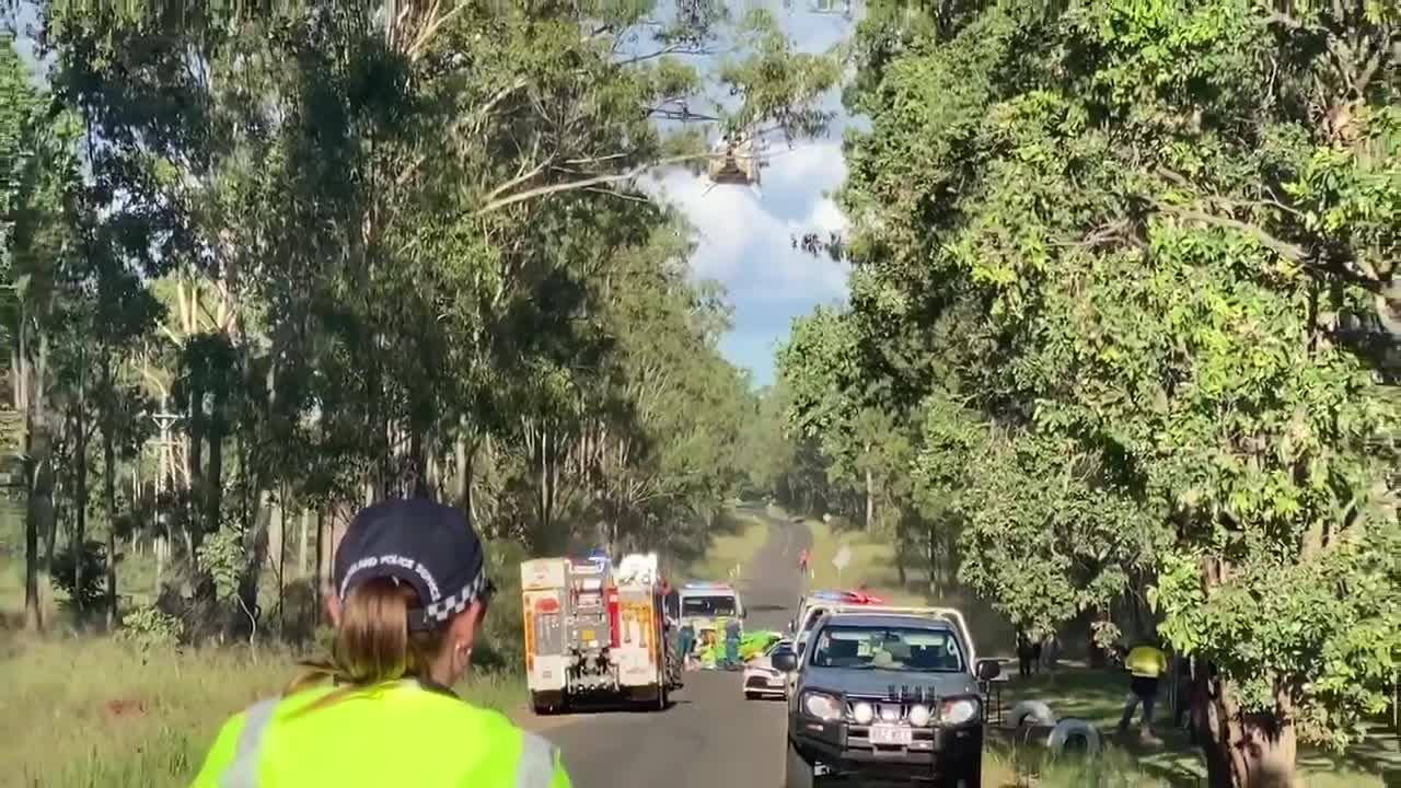 TRAGIC: A person has died following a motorbike crash on Memerambi-Barkers Creek Rd on Tuesday.