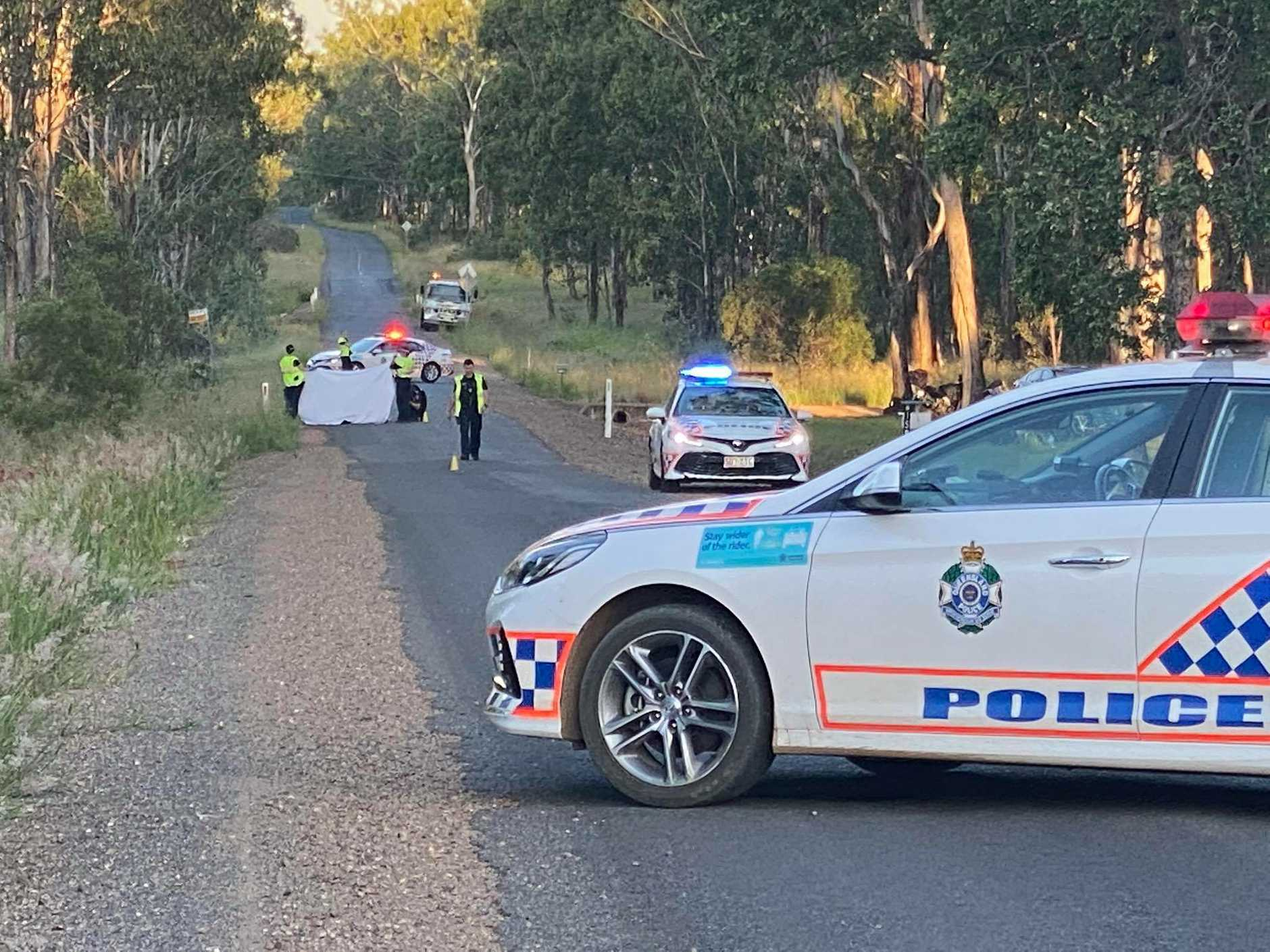 A person has died following a motorbike crash on Memerambi-Barkers Creek Rd.