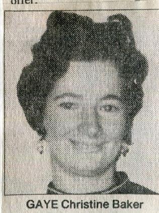 Gaye Christine Baker.