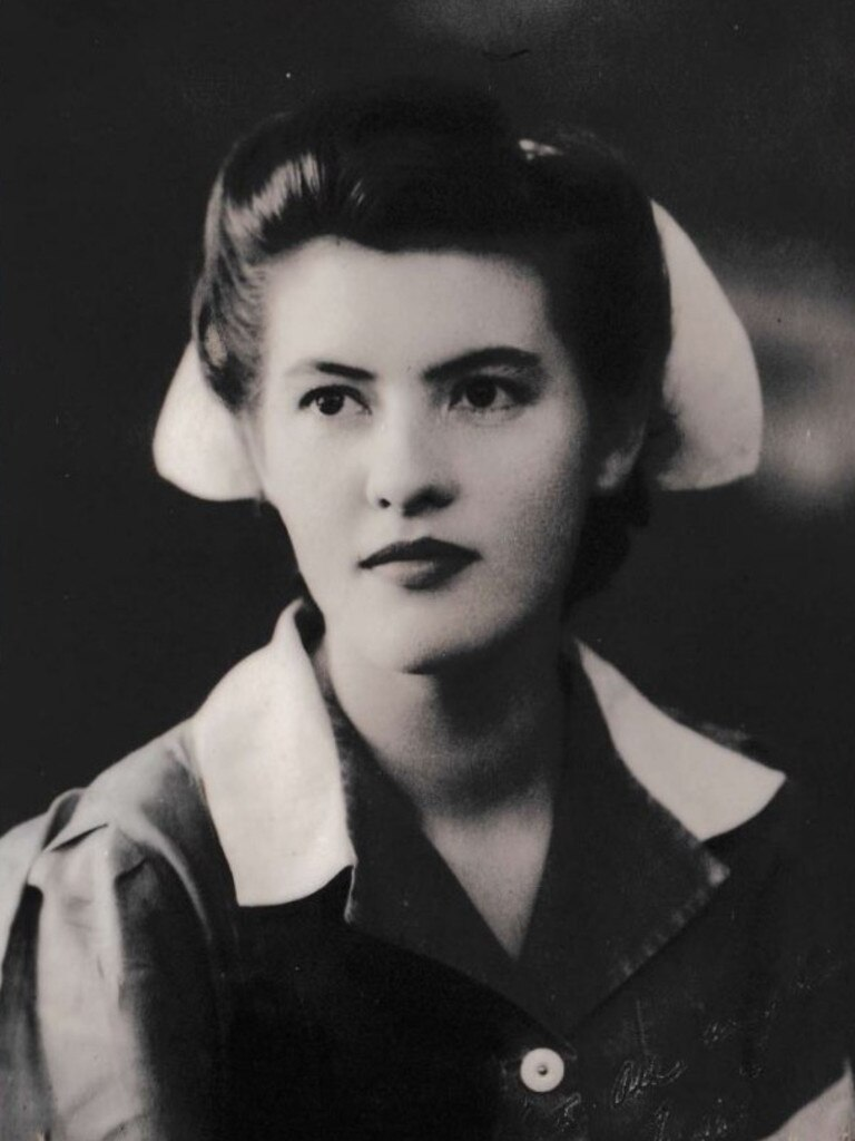 Nurse Marjorie Purnell was working at Mackay Base Hospital during World War II when she met her husband Francis 'Buster' Purnell. Picture: Contributed.