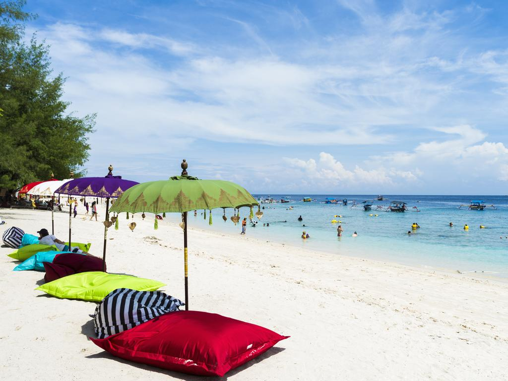 Bali's famous getaway - the Gili islands off Lombok - has been forced into virtual closure amid the coronavirus pandemic. Picture: Getty
