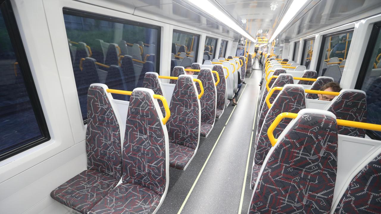 Passenger numbers on trains have dropped. Picture: AAP Image/Richard Gosling
