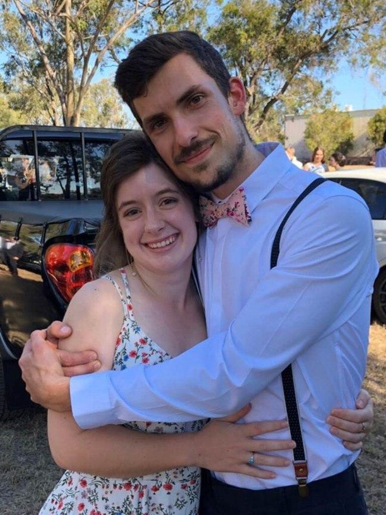 Nathanael Patson with his fiance Sarah Morgan.
