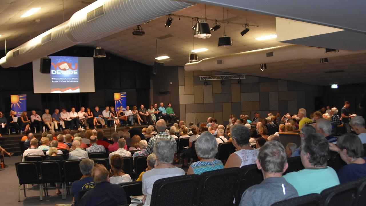 ELECTION FORUM: Noosa Council candidates address voters at a public forum. Photo: Caitlin Zerafa