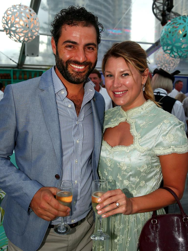 Sally and Pierre Hawach at Magic Millions event. Photo: David Clark