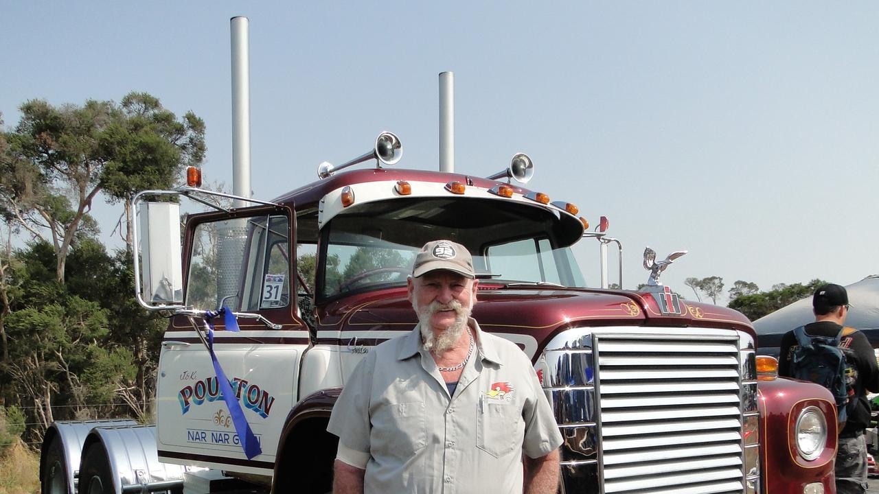 Jeff Poulton and his beloved Loadstar.