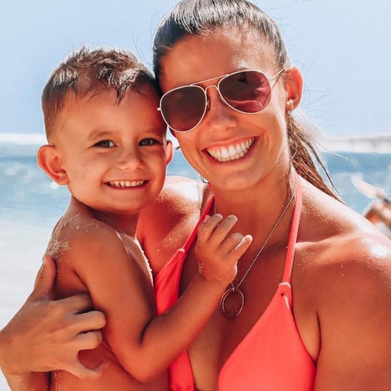 Hannah Clarke with son Trey