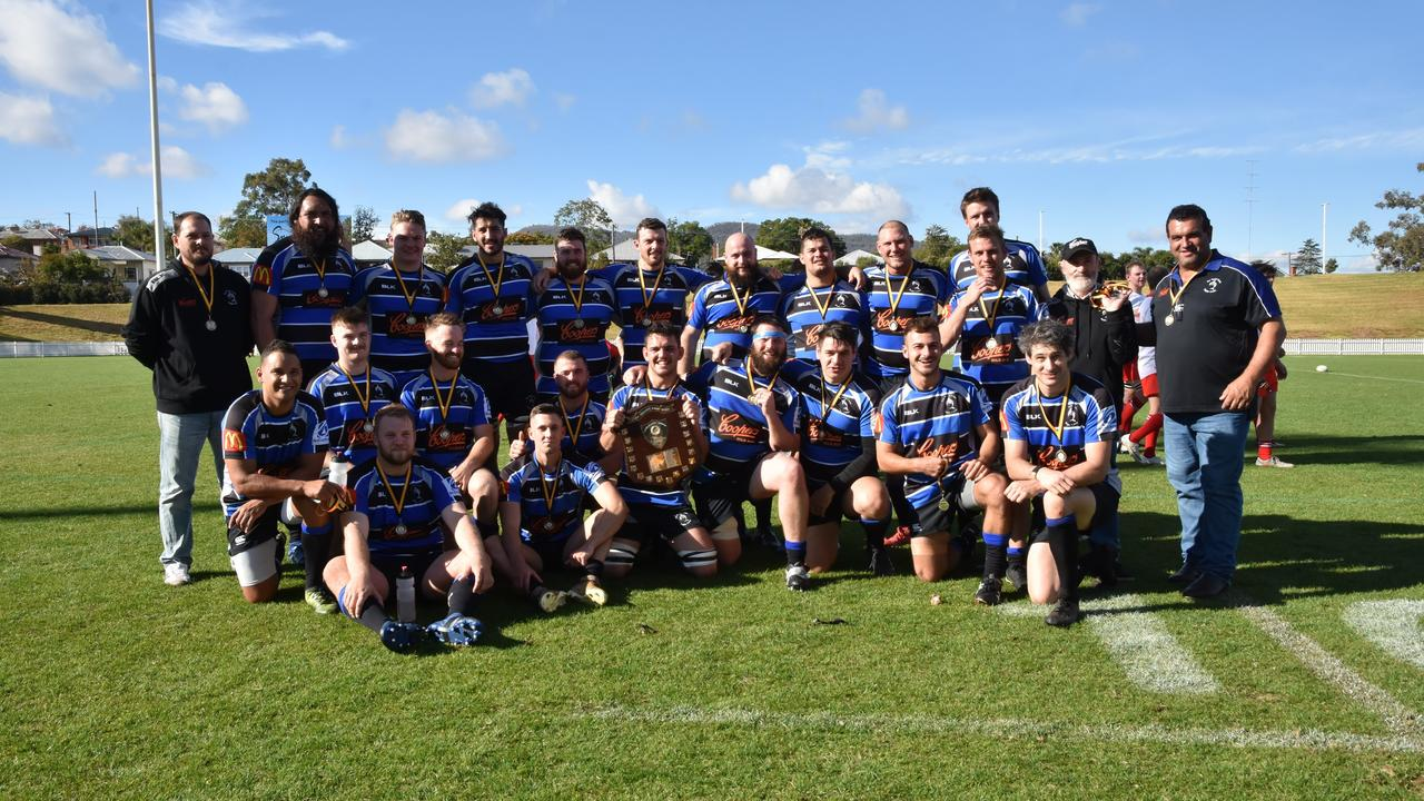 The Far North Coast rugby union team after taking out the Richardson Shield at the 2019 NSW Country championships. All rugby across Australia has been postponed until May. Photo Vicki Kerry.