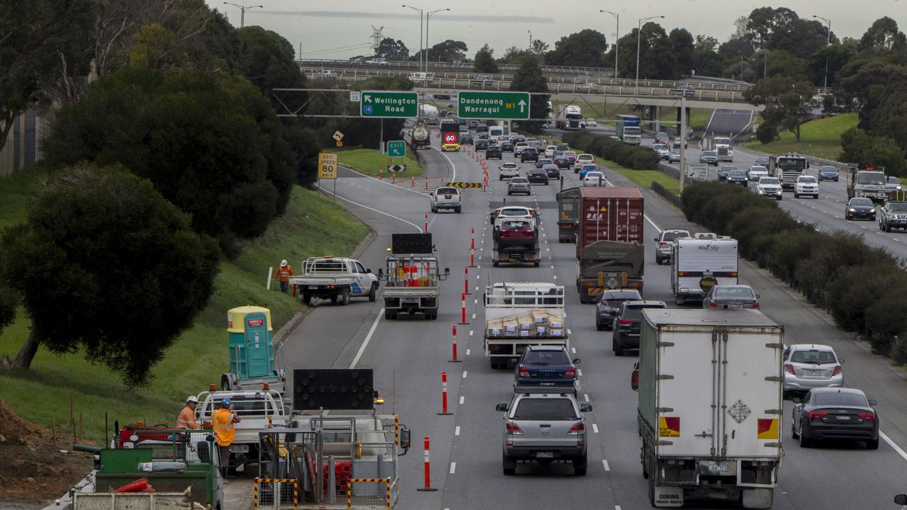 Roadworks create many headaches for truckies. Picture: Richard Serong