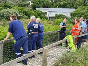 Missing man was trying to save dog swept out by 'rogue wave'