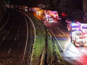 Delays on M1 after truck crash leaves one dead