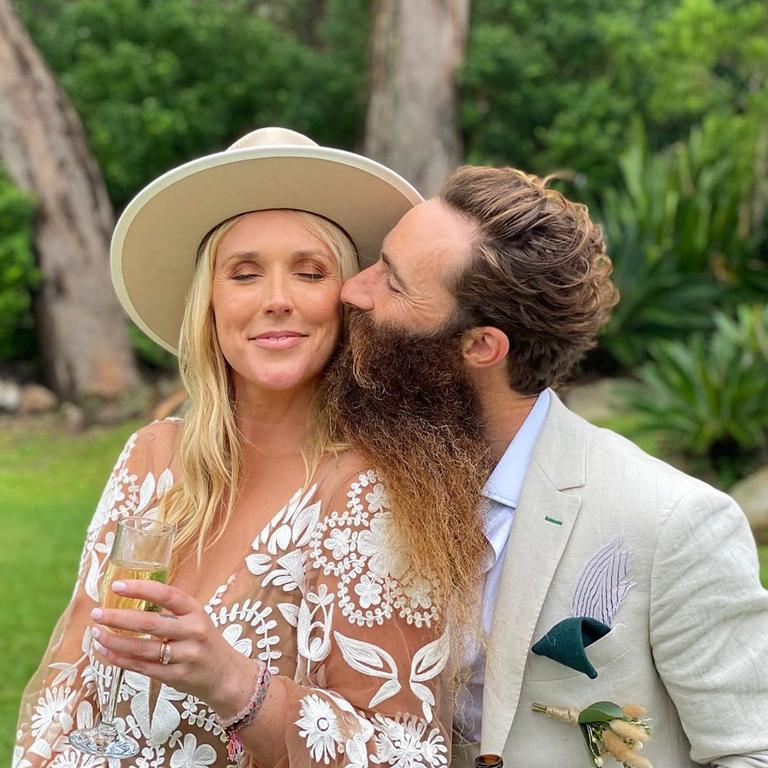 Scott Maggs and Emma Metcalf's wedding was hit with six cases of coronavirus, the NSW chief health officer confirmed. Picture: Instagram