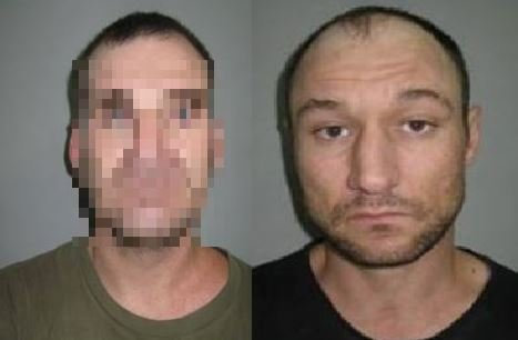 AT LARGE: Police are searching for the man pictured above - Trent Dyhrberg (right) in the Gympie region who is a person of interest in a murder committed in Amamoor last Thursday night.