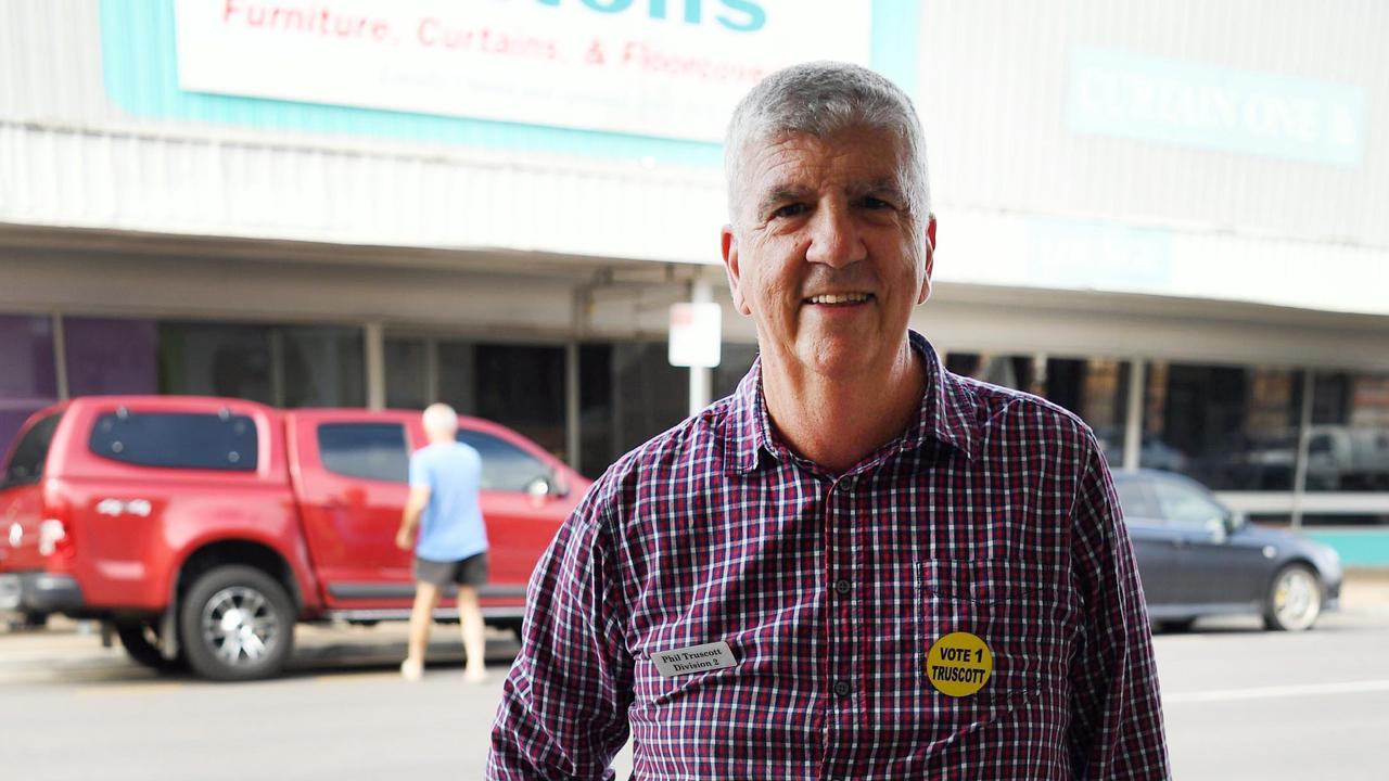 Early voting - Candidate Phil Truscott. Photo: Cody Fox