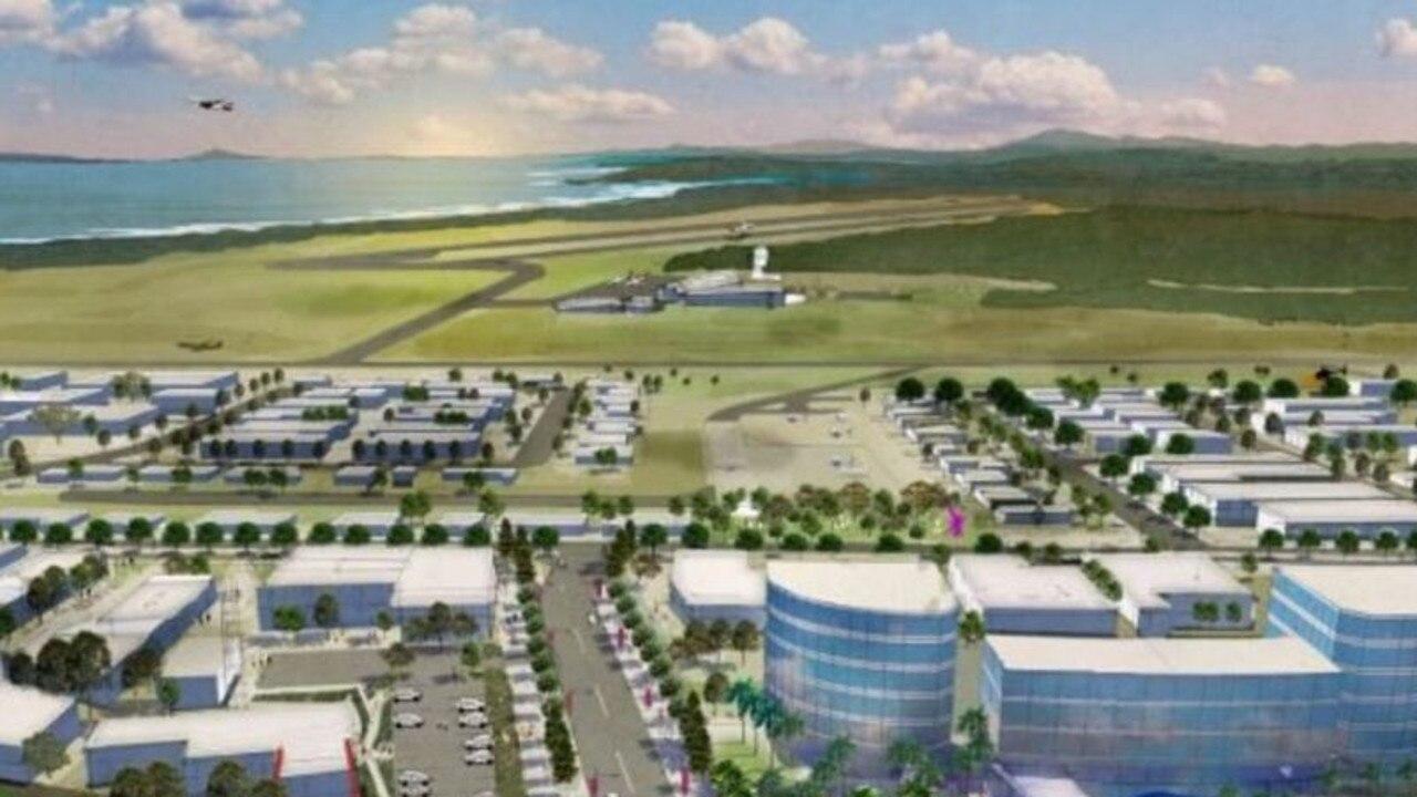 An artist's impression of the Coffs Habrour Airport Enterprise Park.