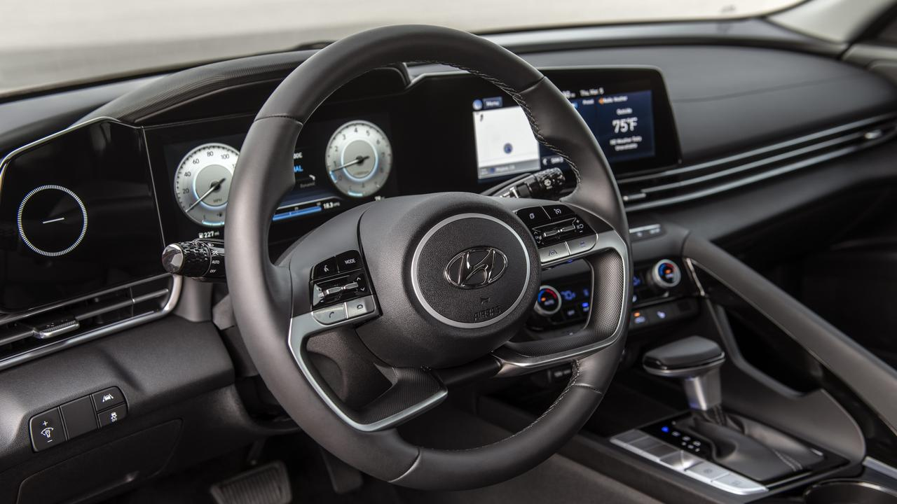 The interior goes upmarket with Mercedes-Benz-style dual-screen layout. (overseas model shown)