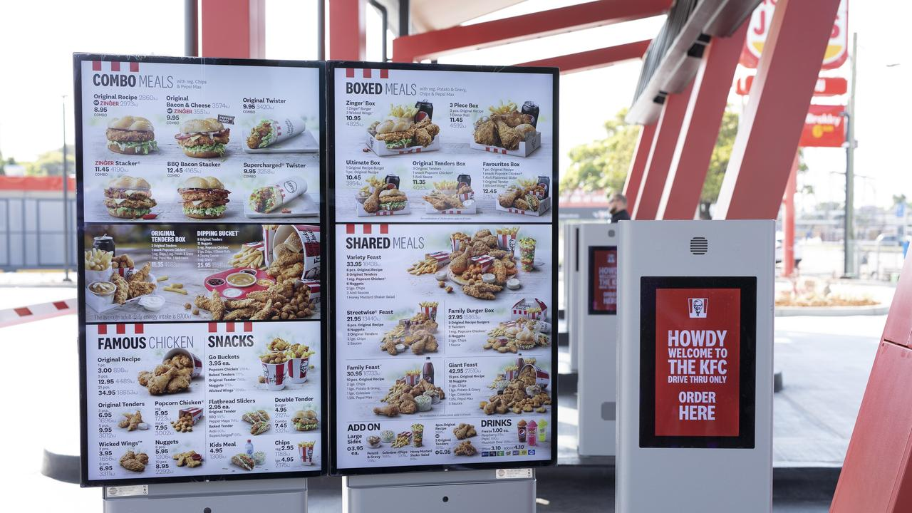 Customers are urged to order via the KFC app before picking up your food. Picture: supplied.