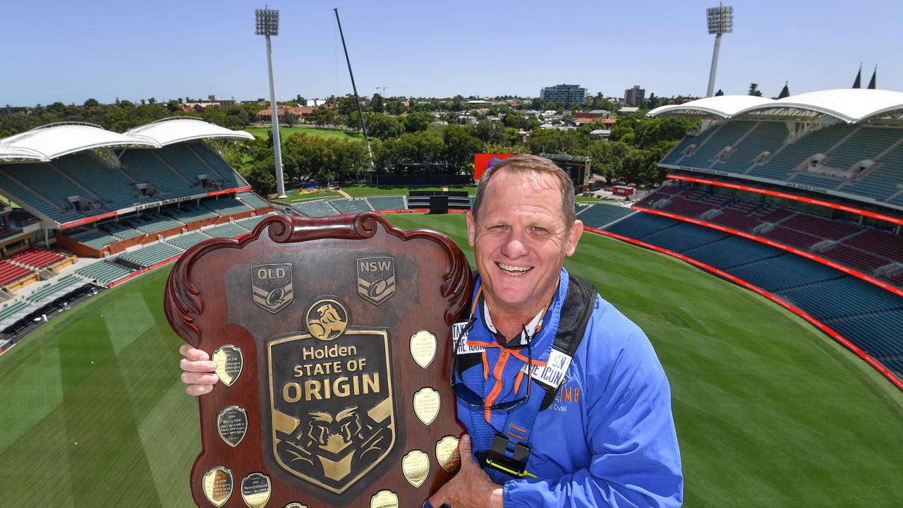 It was clear skies when Walters visited Adelaide to launch the series. Photo: NRL Photos/Gregg Porteous