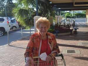 Elderly shoppers pack into Biloela Woolworths