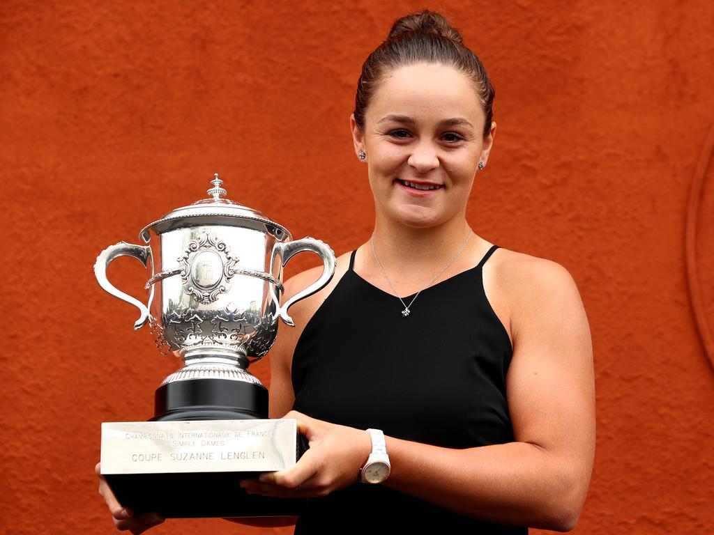 Australia's Ash Barty won her maiden Grand Slam title at the 2019 French Open