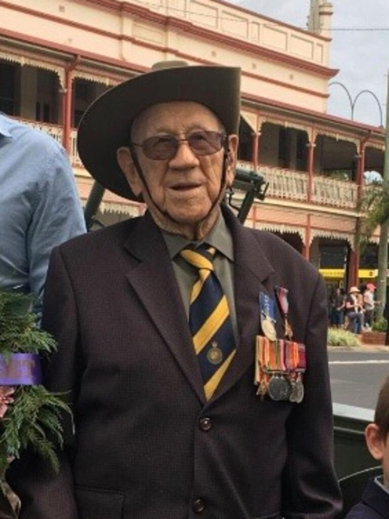 Henry 'Corky' Caldwell looks forward to the Anzac Day service every year.