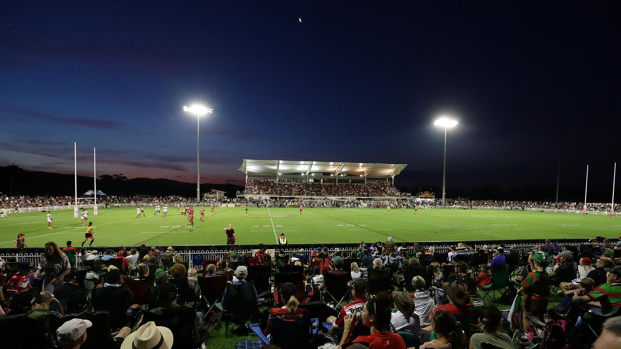 MUDGEE, AUSTRALIA – FEBRUARY 29: A general view during the Charity Shield NRL Trial match between the St George Illawarra Dragons and the South Sydney Rabbitohs at Glen Willow Sporting Complex on February 29, 2020 in Mudgee, Australia. (Photo by Mark Metcalfe/Getty Images)