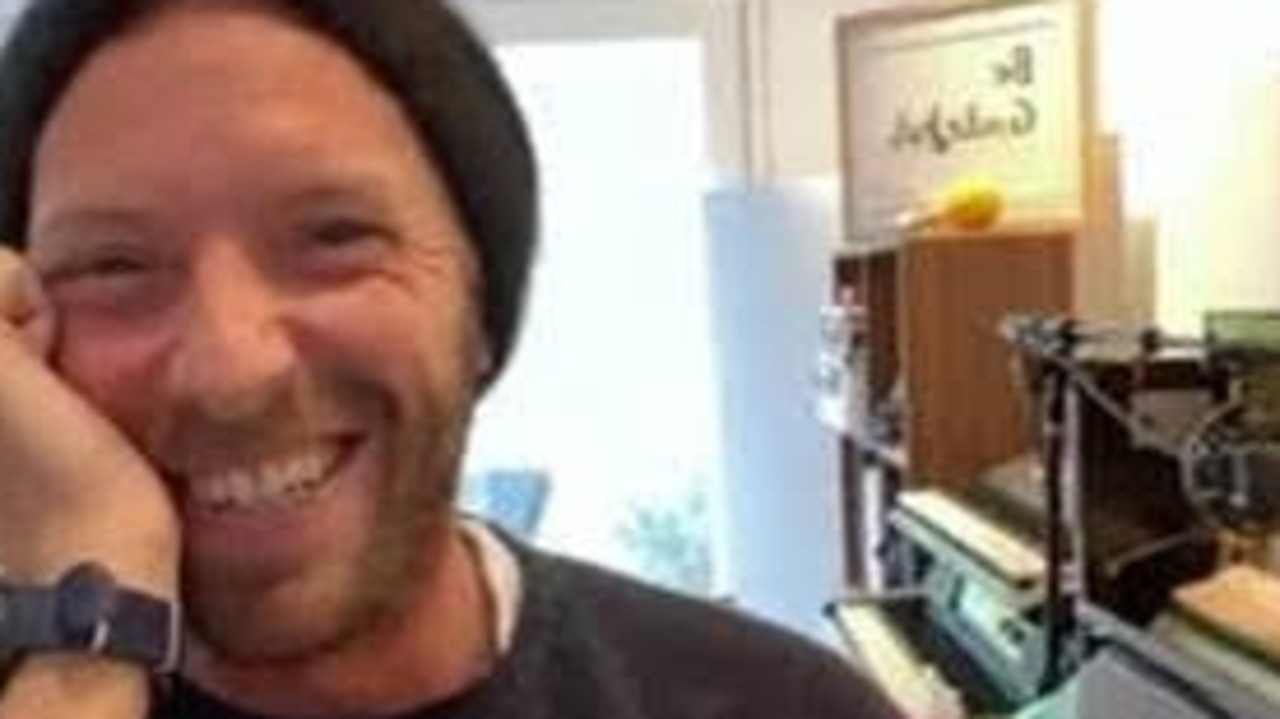 Chris Martin is one of the many stars offering fans a virtual gig amid the coronavirus lockdown. Picture: Supplied.