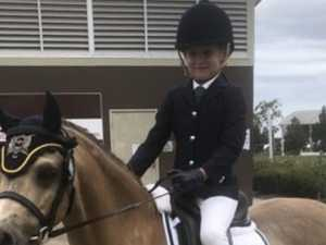 Eight year-old rider the undisputed champion