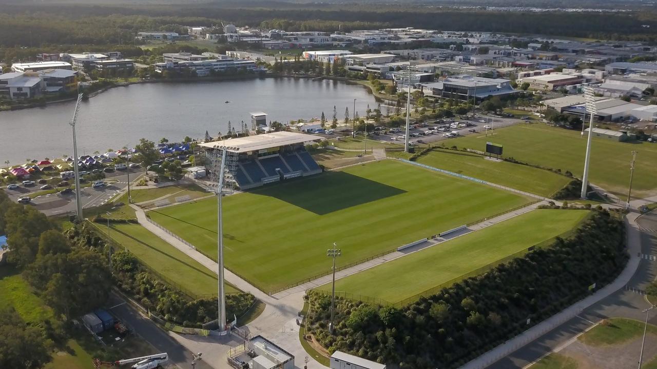 An aerial view of Sunshine Coast Stadium.