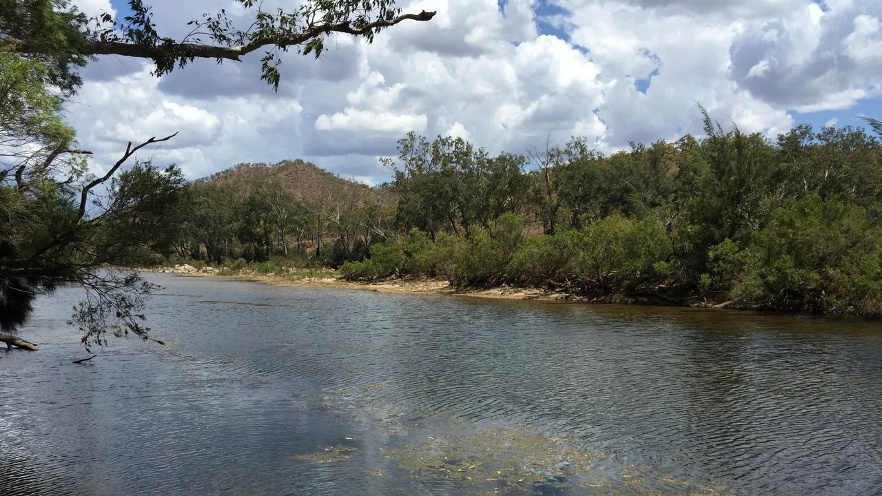 Urannah Creek, site of proposed Urannah Dam, west of Mackay.