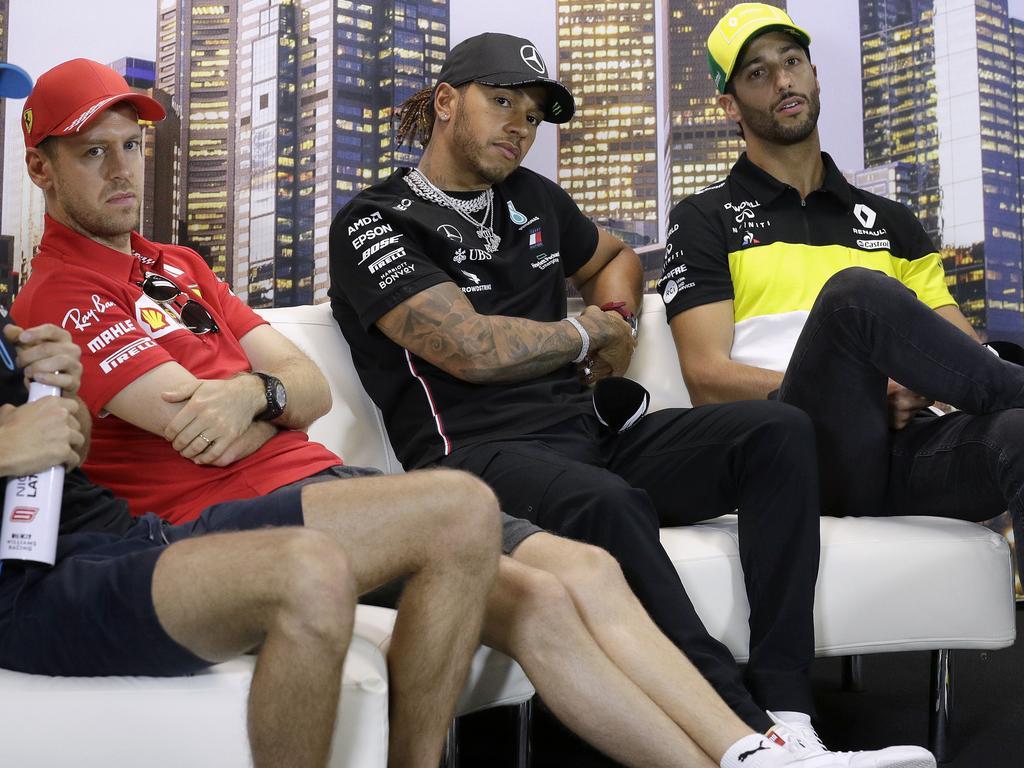 Sebastian Vettel, Lewis Hamilton and Daniel Ricciardo are all off contract.